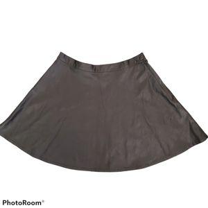 American Apparel black vegan leather skater skirt